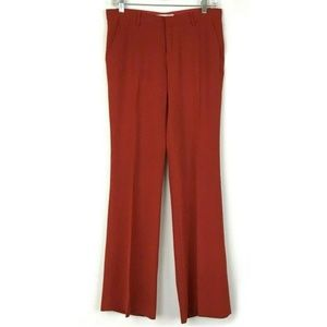 Joie Womens Red Dress Pants Work Wide Leg Trousers
